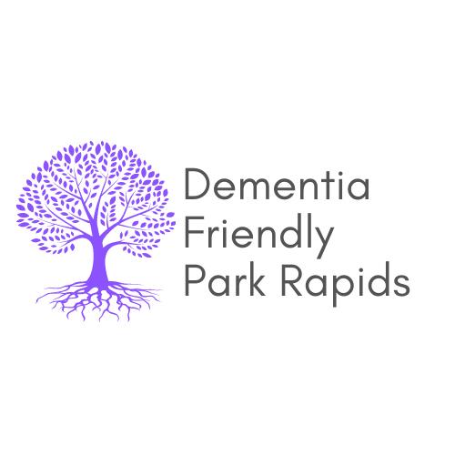 Park rapids Dementia Friendly Community logo and website link